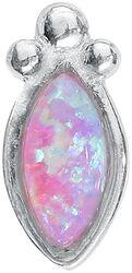 Push-fit Labret Silver Rosa Bindi Opal
