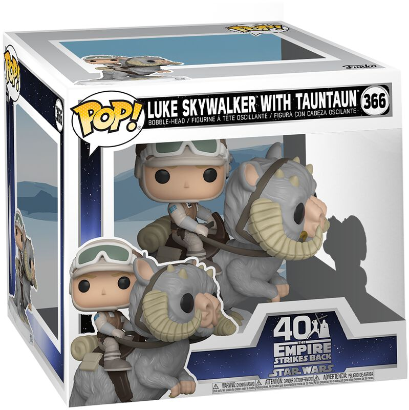 Empire Strikes Back 40th Anniversary - Luke Skywalker With TaunTaun (POP Deluxe) Vinylfiguur 366