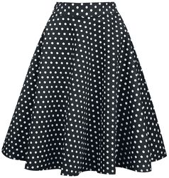 Shirley High Waist Full Circle Polka Dot Skirt