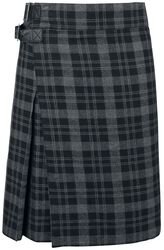 Grey Kilt with Side Buckles