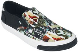 Baja Marvel Characters Print Slip-On