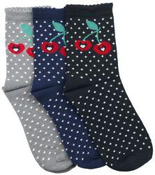 Sweet Dotties 3 Pack Socks