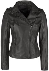 Brown Biker Leather Jacket