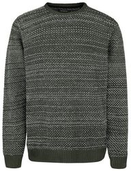 Crew Neck Structure Knit Relaxed Fit