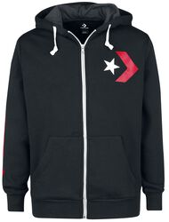 Star Chevron Graphic Full-Zip Hoodie