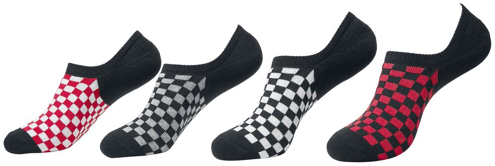 Recycled Yarn Check Invisible Socks 4-Pack