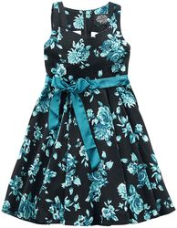Black Rosaceae Swing Dress