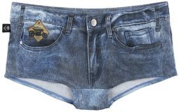 Dunkelblaue Bikinihose im Jeans-Look