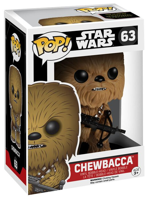 episode 7 the force awakens chewbacca vinyl bobble head 63 star wars funko pop large. Black Bedroom Furniture Sets. Home Design Ideas
