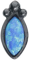 Push-fit Labret Black Blue Bindi Opal