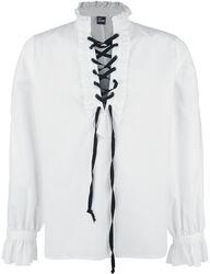 Overhemd met Ruches en Vetering