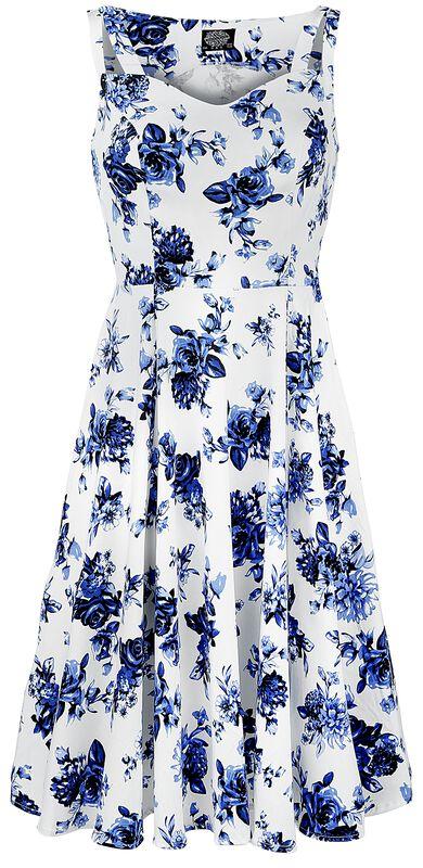 Blue Rosaceae Swing Dress