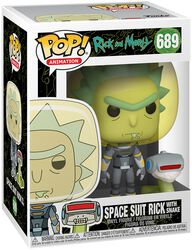 Season 4 - Space Suit Rick With Snake Vinylfiguur 698