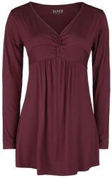 Long-sleeve top met knoopdetail