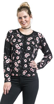 College Look Floral Cardigan