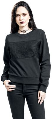Sweatshirt with lace
