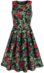 Annie Rose Thorns Floral Retro Dress