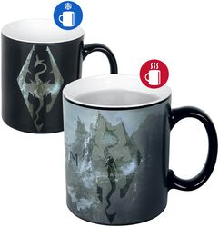 V - Skyrim - Dragon Symbol - Heat Change Mug