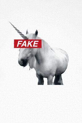 Ladies Fake Unicorn Tee