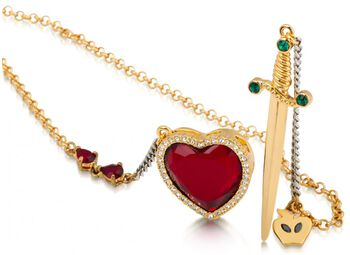 Disney by Couture Kingdom - Red Crystal Heart And Dagger