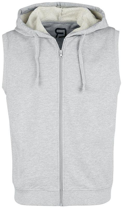 Grey Sweat Vest with Hood