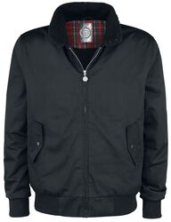 Black Between-Seasons Jacket with Standing Collar