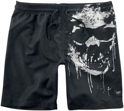 Swim Shorts with Skull Print Black Premium