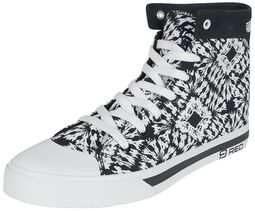 Black/White Sneakers in Batik Look