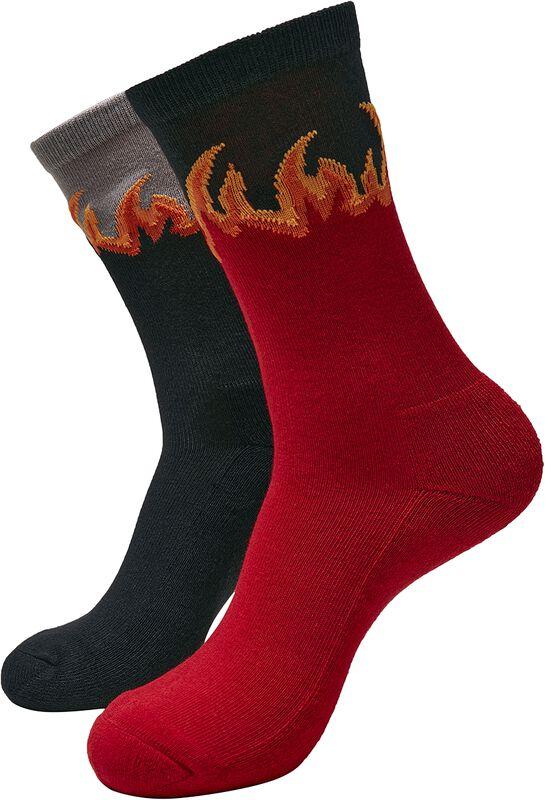 Long Flame Socks 2-Pack