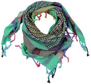 PLO-sjaal Multicolour Blue-Green