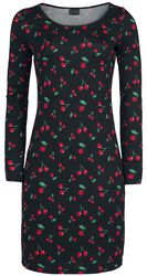 Cherries Slim Dress